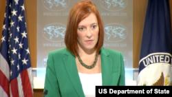 젠 사키 국무부 대변인 (자료사진)
