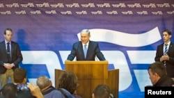 Thủ tướng Israel Benjamin Netanyahuahu phát biểu tại trụ sở đảng Likud ở Tel Aviv, ngày 1/1/2015.