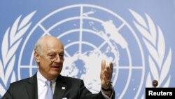 Staffan de Mistura, ONU, Genève, Suisse, le 28 avril 2016.