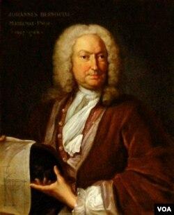 Chân dung Johann Bernouilli, sơn dầu Johann Rudolph Huber, treo tại đại học Basel.