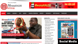La Une du site de Mwanahalisi, en Tanzanie, le 19 septembre 2017.