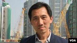 香港前立法會議員姚松炎 (美國之音湯惠芸拍攝)