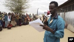 Somali refugees are called in for registration in one of the refugee camps in the southeastern Dollo Ado region of Ethiopia.