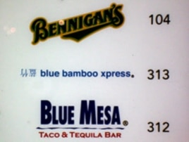 """Indeed, the characters on this sign do mean """"blue bamboo,"""" but they're upside down."""