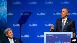 Tổng thống Obama phát biểu tại Hội nghị Glacier ở Alaska, ngày 31/8/2015.