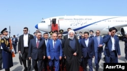 İran prezidenti Həsən Ruhani Azərbaycana gəlib