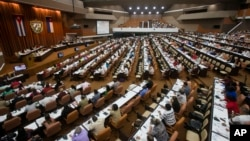 Lawmakers attend a National Assembly session in Havana, Cuba, July 8, 2016.