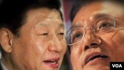 將會在十八大後成為新最高領導人的習近平(左)和李克強(右)。(視頻截圖)