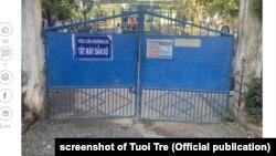 Cổng trường THPT Vĩnh Xương, Tân Châu, An Giang