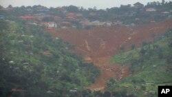 متاثرہ علاقے کا منظر