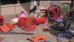 2012-03-14 美國之音視頻新聞: 阿富汗屠殺事發地附近電單車炸彈1死2傷
