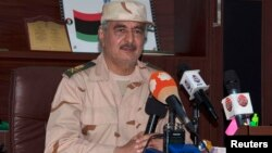 Khalifa Haftar, Al Marj, Libye, le 4 juin 2014.