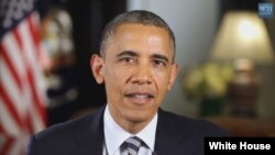 A screen grab from President Barack Obama's weekly address (whitehouse.gov)