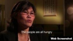 앰네스티 인터네셔널이 제작한 북한 인권 고발 영화 '또 다른 인터뷰(The Other Interview)'에서 탈북자 박지현 씨가 북한의 열악한 인권 상황에 대해 증언하고 있다.
