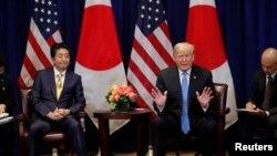 Japonya Başbakanı Abe ve ABD Başkanı Trump New York'ta görüştü