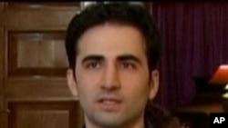 從電視上截取的美國裔伊朗人希克馬蒂的畫面