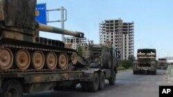 تصویر آرشیوی از کاروان خودروهای نظامی ترکیه