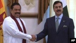پاکستانی وزیراعظم اور سری لنکا کے صدر