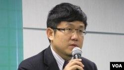 民進黨國際事務部主任 劉世忠(美國之音 張永泰拍攝)