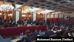 Rencontre sur la coopération transfrontalière entre la Libye, le Tchad, le Soudan et le Niger, le 3 avril 2018. (Twitter/Mohamed Bazoum)
