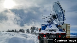 A special mountaintop radar called Doppler on Wheels measures precipitation in the new multi-institution cloud seeding study. (Photo Credit: Joshua Aikins)