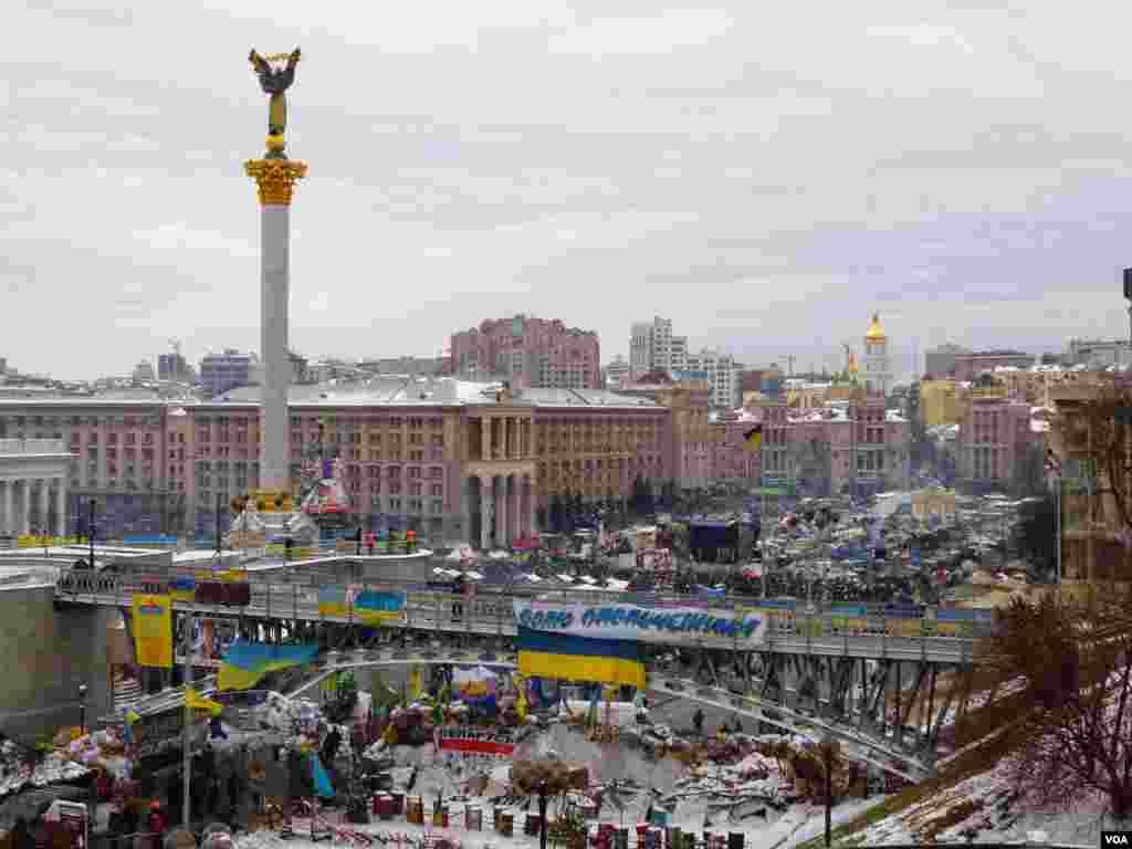 Azadlq Meydanında etirazlar davam edir - Kiyev, 28 yanvar, 2014