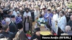 Oliver Ivanović sahranjen u Beografu, 18. januar 2018. godine.
