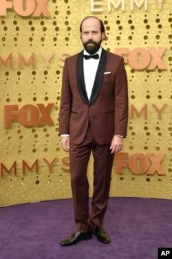Brett Gelman arrives at the 71st Primetime Emmy Awards on Sunday, Sept. 22, 2019, at the Microsoft Theater in Los Angeles. (Photo by Richard Shotwell/Invision/AP)