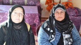 Shehanaz Amin (left) and Elehma Omar run the women's center in Qamishli, a Kurdish-dominated city in northeast Syria.