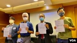 香港民意研究所10月16日公佈民調顯示,56%受訪市民相信香港警方早知悉12港人離境計劃。(美國之音湯惠芸)