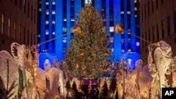 紐約洛克菲勒中心(Rockefeller Center)的聖誕樹。