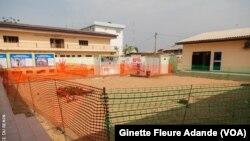 Le site d'isolement et de traitement du coronavirus, à Cotonou, le 10 mars 2020.( VOA/Ginette Fleure Adande)