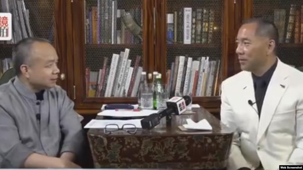 郭文贵星期五接受明镜网电视专访 (网络视频截图 2017年6月16日 )