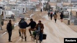 在約旦邊境城市的敘利亞難民