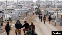Kamp al Zaatari untuk para pengungsi Suriah di Mafraq, Yordania.