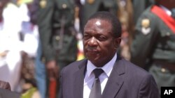 FILE - Emmerson Mnangagwa is seen in a Dec. 7, 2014, photo.