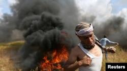 加沙地带2018年3月30日爆发冲突(路透社)