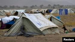 2014年7月2日一名流离失所的巴基斯坦儿童在霍斯特省难民营