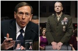 Cựu giám đốc CIA Petraeus (trái) và tướng John Allen đều được coi là hai vị tướng giỏi của Hoa Kỳ.