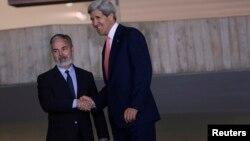 Держсекретар США Джон Керрі з бразильським колегою Антоніо Патріота