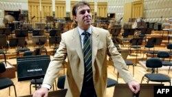 Daniele Gatti, le chef d'orchestre italien, à Radio France, à Paris, le 17 octobre 2007.
