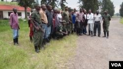 M23 volunteers at Rumangabo training camp in North Kivu province, DRC, October 8, 2012. (N. Long/VOA)