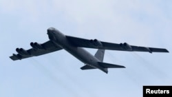 FILE - A B-52 strategic bomber from the United States Air Force.