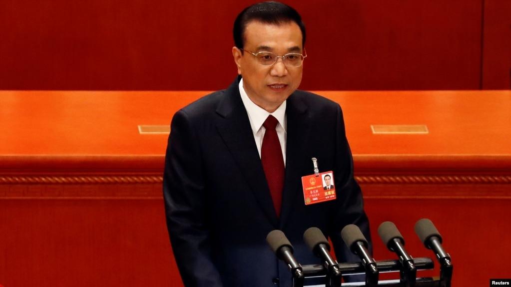 中國國務院總理李克強3月5日在全國人大會議開幕式上發表政府工作報告