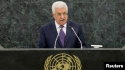 巴勒斯坦權力機構主席阿巴斯9月26日在聯合國大會上。