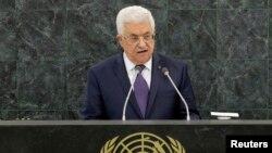 Presiden Palestina Mahmoud Abbas memberikan pidato di hadapan Majelis Umum PBB hari Kamis (26/9).