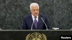 Tổng thống Palestine Mahmoud Abbas phát biểu trước cuộc họp Đại hội đồng Liên hiệp quốc