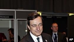 30일 유럽연합 재무장관 회의에 참석한 유럽중앙은행장.