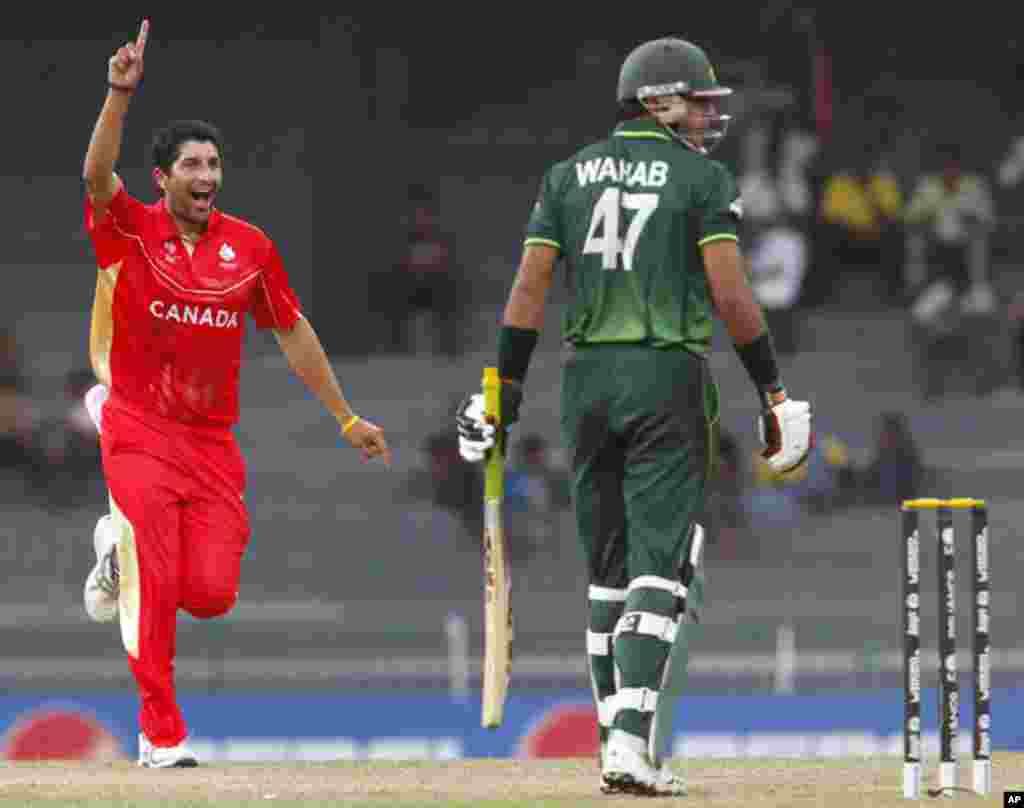 پاکستان نے کینیڈا کو 46رنز سے ہرادیا