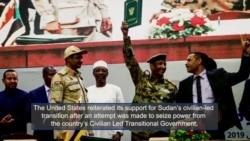 U.S. Supports Sudan's Civilian-led Transition